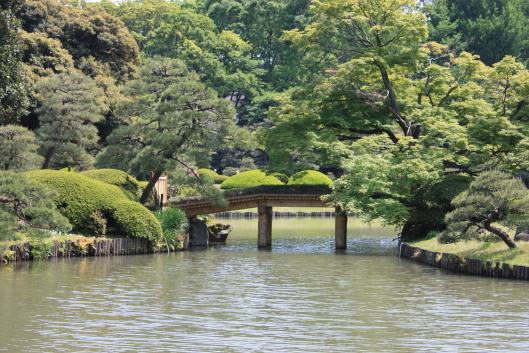 Rikugien garden, Taduru-bashi bridge, Tokyo