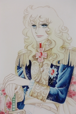 Lady Oscar by Riyoko Ikeda (from posters at Rose & Gardening show 2012)