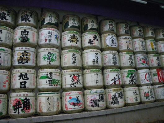 Many sake brewing donated their sake for the shrine.