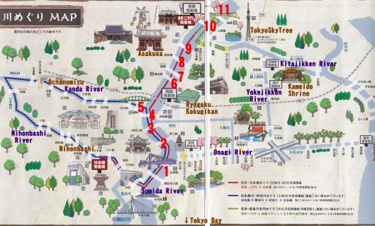 Tokyo river map