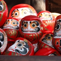 Bodhidharma and his Daruma doll at Darumaji-temple, Takasaki