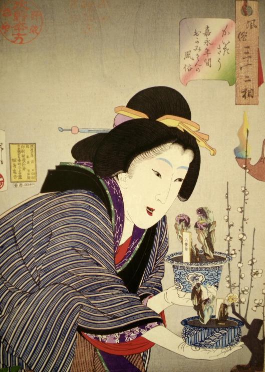 Ukiyoe, woman and adonis