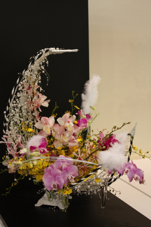 Orchid display at Japan Grand Prix International Orchid Festival 2013 in Tokyo