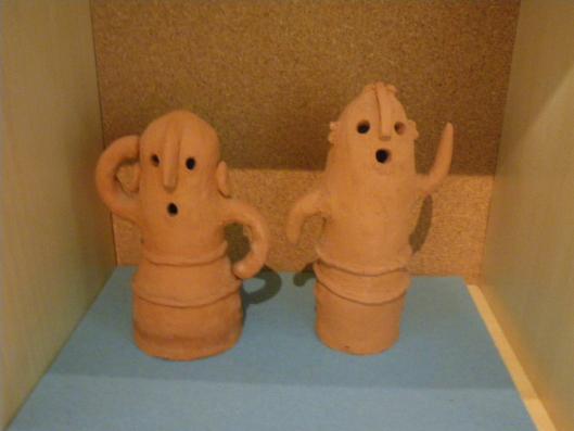 ancient clay image, dancing haniwa